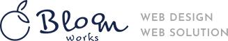 松山市 ホームページ制作 BLOOM WORKS ブルームワークス ロゴ